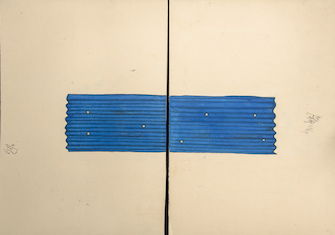 Desmond Lazaro, Study for Blue House II Part 1 und Part 2, © Desmond Lazaro