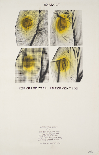 Fabrizio Plessi, Analogy Experimental Intervention / Water Works Series 1, 1974