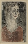 Edvard Munch, Birgitte III (The Gothic Girl), 1930