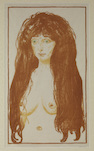 Edvard Munch, Woman with Red Hair and Green Eyes. The Sin., 1902